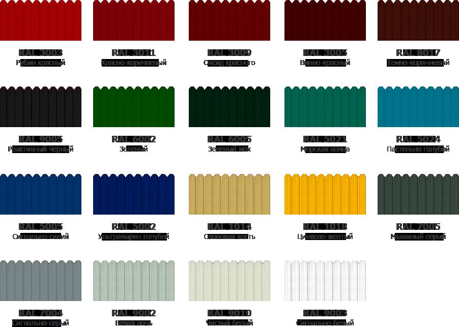 сочетание цветов профлиста